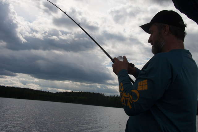 Lawrence reeling in his catch