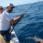Lawrence fighting a 300lb Bull Shark off the coast of Miami
