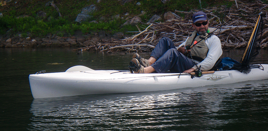 Lawrence in Kayak